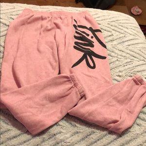 Pink sweats.!